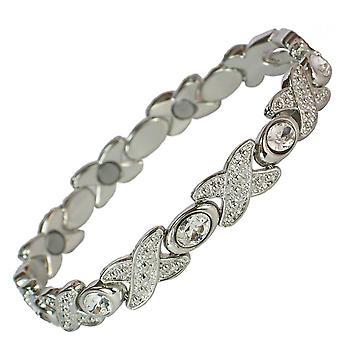 MPS® TARIM magnetiska armband med kristaller + verktyget för borttagning av gratis länkar