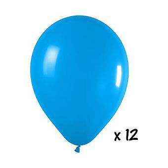 Balão e balão acessórios 12 balões turquesa
