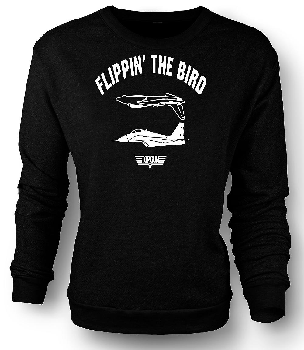 Sweatshirt Mens Top Gun USAF Flippin Bird - Funny