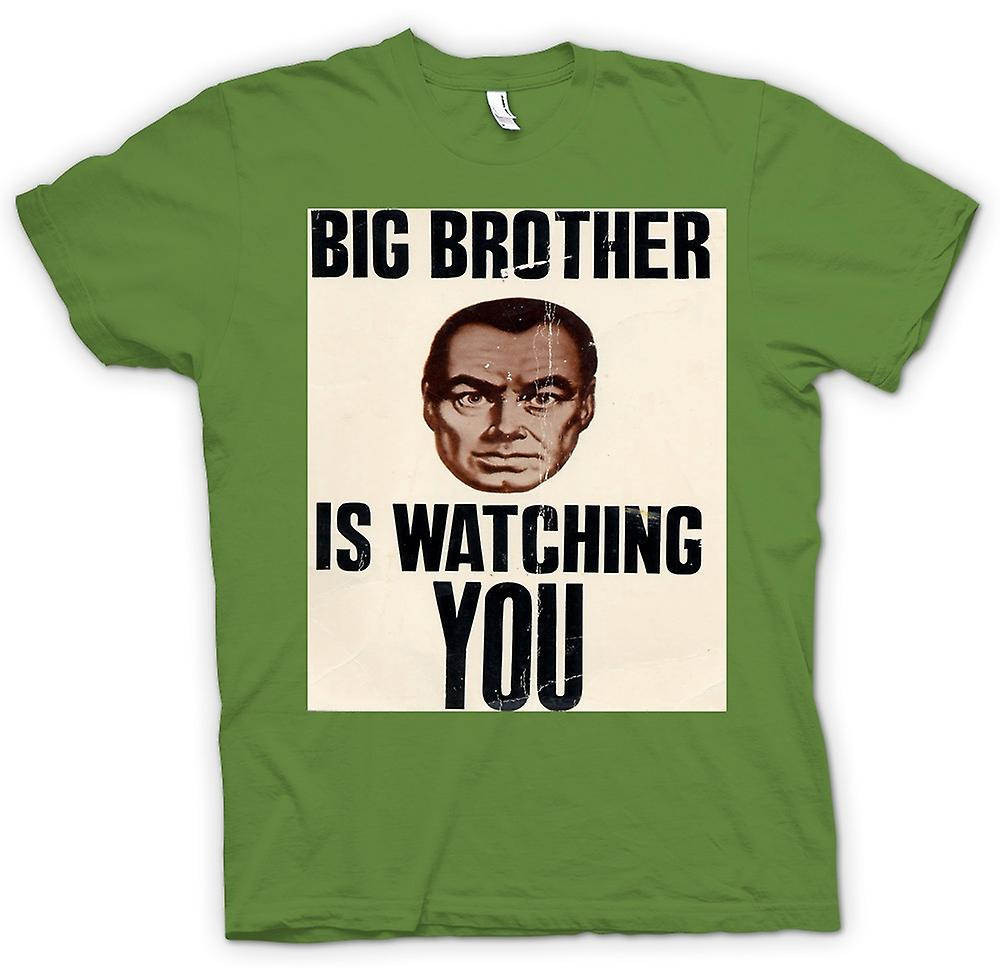 Mens T-shirt-Big Brother Is Watching You - Poster