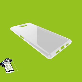 Silikoncase ultra dunne envelop tas transparant + gehard glas 0.3 mm H9 voor Sony Xperia 10