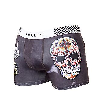 Pull-In Grey-Black-White Custom Boxer Shorts