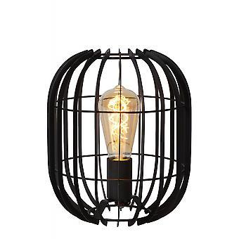 Lucide Reda Modern Oval Metal Black Table Lamp