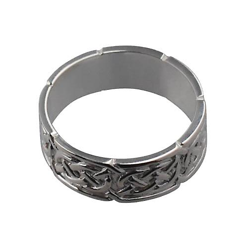 Silver 8mm Celtic Wedding Ring Size W