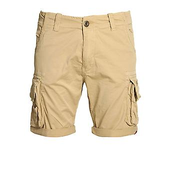 Alpha Industries Crew Cargo Shorts | Caramel