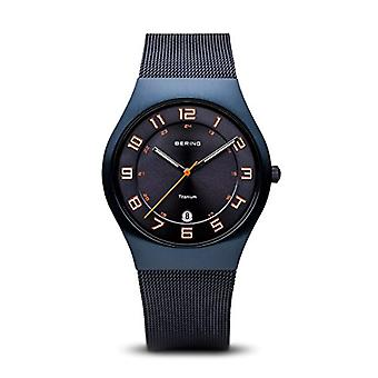 BERING Quartz Analog Unisex Adult with stainless steel strap 11937-393