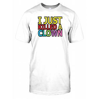 Jag dödade bara en Clown - roliga citat barn T Shirt