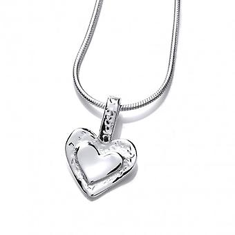 Cavendish French Silver Framed Heart Pendant without Chain