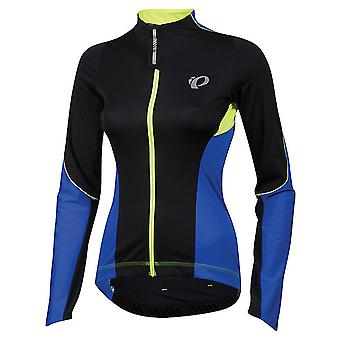 Pearl Izumi Dazzling Blue-Black Pro Pursuit Wind Womens Long Sleeved Cycling Jer