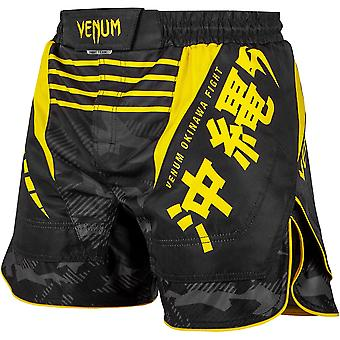 Venum Okinawa 2.0 MMA Fight Shorts - Black/Yellow