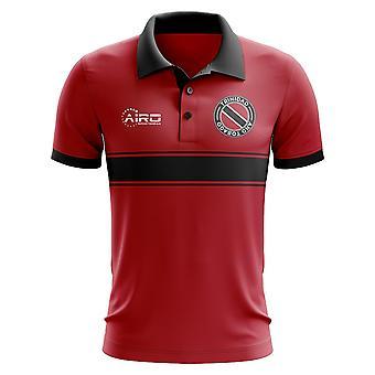 Koszulka Polo pasek koncepcja Trynidad i Tobago (czerwony)