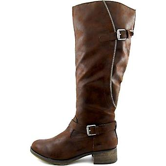 Style & Co Gayge Wide calf Women Round Toe Synthetic Brown Knee High Boot