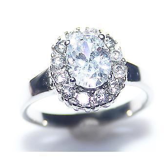 Ah! Bijoux Mesdames Lab créé bague diamant ovale