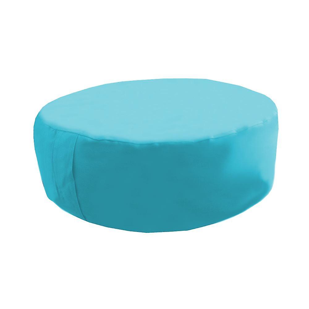 Turquoise Water Resistant Round Bean Floor Garden Cushion