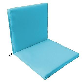 Gardenista® almohadilla de asiento de dos partes de color turquesa resistente al agua, paquete de 4