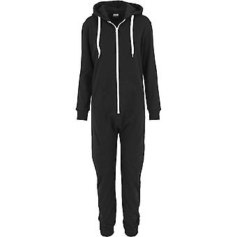 Urban Classics Ladies - Sweat Jumpsuit schwarz / weiß