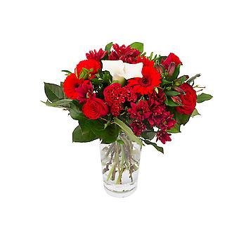 Botanicly - Bouquets | Bunch of Flowers Kim medium, red | Height: 40 cm