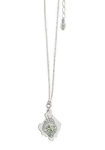 Pilgrim Damenkette: boho natur grön/silver (474401)