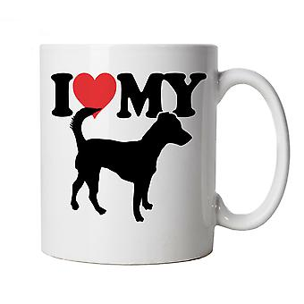 I Love My Jack Russell Mug | Dog Gift Fur Baby Lover Owner Mans Best Friend | Crufts Dog Show Kennel Club Pedigree Breed Puppy | Dogs Cup Gift