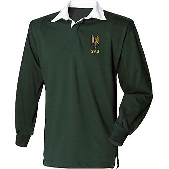 SAS Special Air Service Name - Licensed British Army Embroidered Long Sleeve Rugby Shirt