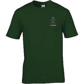 Queens eigen Highlanders veteraan-gelicentieerd Britse leger geborduurd premie T-shirt