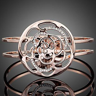 18K Rose Gold Plated Ring Flower Bracelet