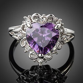 Platinum Plated Purple Heart Ring