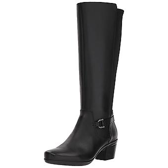 Clarks Womens Emslie March Leather Almond Toe Knee High Fashion Boots