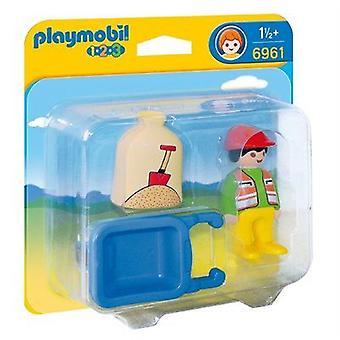 Playmobil 1.2.3 Travailleur avec brouette