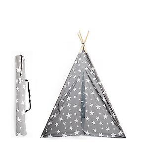 160cm Tepee Grau mit weißen Sternen