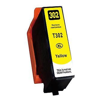 Gul kompatibel bläckpatron ersättning för 302XL