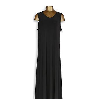 Attitudes By Renee Maxi Dress Petite Como Jersey Black A347505