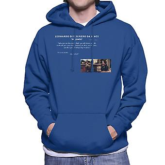 A.P.O.H Leonardo Da Vinci Flight Quote Men's Hooded Sweatshirt