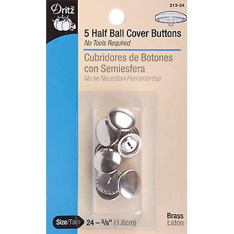 Half Ball Cover Buttons Size 24 5 8