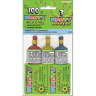 Party Snaps 50 Count 2 Pkg And Poppers 3 Pkg 90289