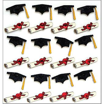 Jolee's Mini Repeats Stickers Graduation Caps And Diplomas E20758