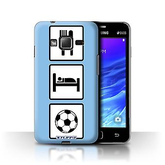 STUFF4 Case/Cover for Samsung Z1/Z130/Football/Soccer/Blue/Eat/Sleep