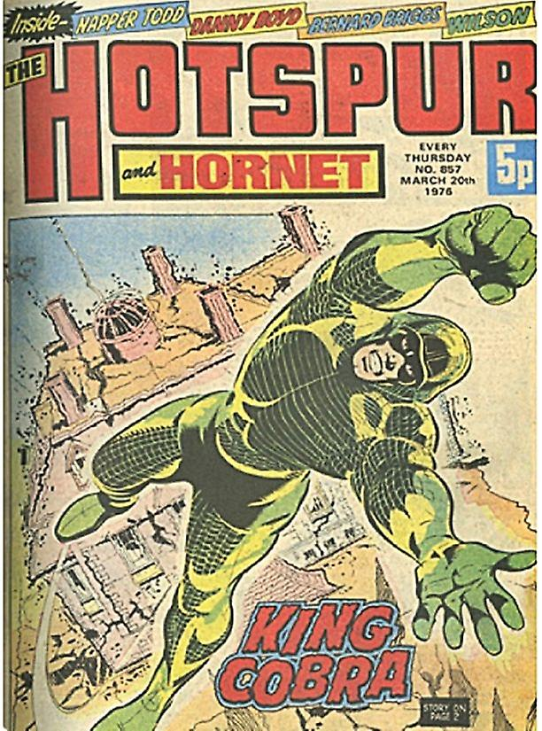 Hotspur & Hornet King Cobra Comic Cover 1976 large steel sign  410mm x 300mm (hb)