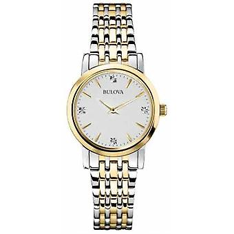 Bulova Womans Diamond Gallery Two Tone 98S115 Watch