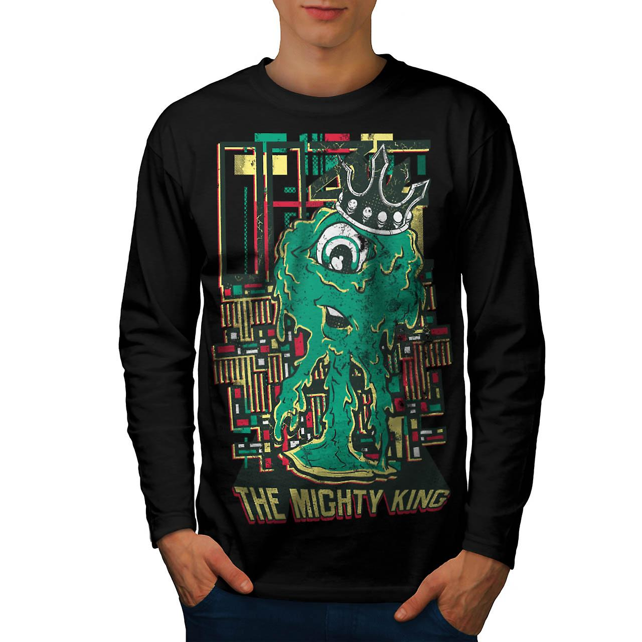 Mighty King Monster Cyclops Life Men Black Long Sleeve T-shirt | Wellcoda