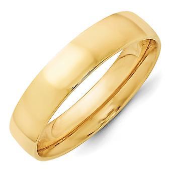 14k giallo oro 5 millimetri Ltw Comfort Fit Band Ring - anello Dimensione: 4-14