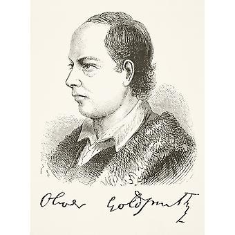 Oliver Goldschmied 1728-1774 Anglo-irischer Dramatiker Schriftsteller Dramatiker Dichter und Essayist aus der nationalen und in-Geschichte von England von William Aubrey veröffentlicht London ca. 1890 PosterPrint