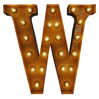 Large Vintage Letter Lights - W