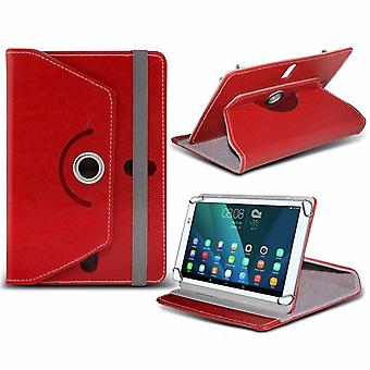 iTronixs - Lenovo Tab 2 A7-20 (7 Inch) Tablet Case PREMIUM PU 360 Rotating Leather Wallet Folio Faux 4 Springs Stand - Red