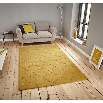 HK 8583 Yellow  Rectangle Rugs Plain/Nearly Plain Rugs