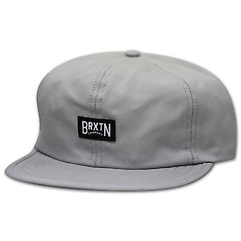Brixton Langley 6 Panel Strapback Baseball Cap Grey