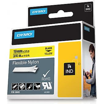 DYMO RhinoPRO tapes flex nylon 19 mm, black on yellow
