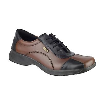 Cotswold Icomb Ladies WP Shoes Textile Leather PU Lace Up Fastening Footwear