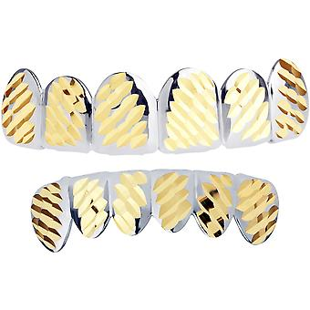 Silber Grillz - One size fits all - Diamond Cut IV - SET