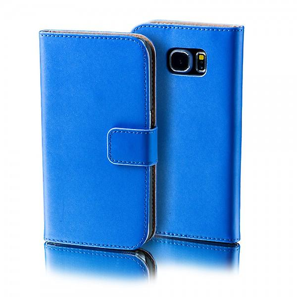 Wallet Deluxe bag blue for Samsung Galaxy S6 edge plus G928 F